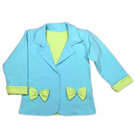 Kabátek/sáčko NICOL KVĚTINKA - sv. modrá