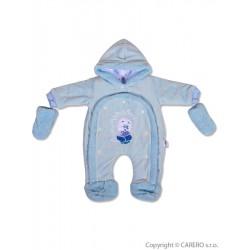 Dětská kombinéza New Baby ježek modrá, Modrá, 56 (0-3m)