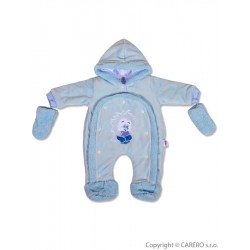 Dětská kombinéza New Baby ježek modrá, Modrá, 74 (6-9m)