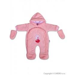 Dětská kombinéza New Baby ježek růžová, Růžová, 74 (6-9m)
