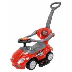 Dětské hrající jezdítko 3v1 Baby Mix red
