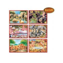 Skládací obrázkové kostky 12 ks safari