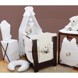Luxusní mega set s výšivkou Š - Méďové v bílé