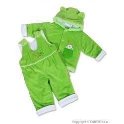 Kojenecká zimní souprava New Baby medvídek zeleno-bílá