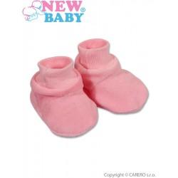 Dětské bačkůrky New Baby růžové, Růžová, 62 (3-6m)