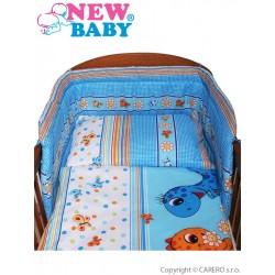2-dílné ložní povlečení New Baby 90/120 cm modré s dinem, Modrá