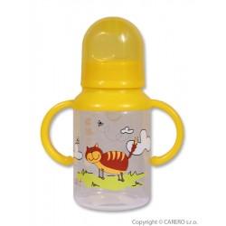 Láhev s obrázkem Akuku 125 ml žlutá, Žlutá