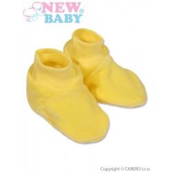 Dětské bačkůrky New Baby žluté, Žlutá, 62 (3-6m)