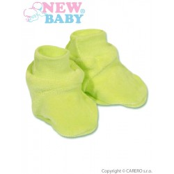 Dětské bačkůrky New Baby zelené, Zelená, 62 (3-6m)