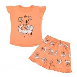 Dětské letní pyžamko New Baby Dream lososové, Dle obrázku, 62 (3-6m)