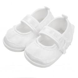 Kojenecké capáčky New Baby saténové bílé 0-3 m, Bílá, 0-3 m