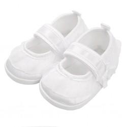 Kojenecké capáčky New Baby saténové bílé 6-12 m, Bílá, 6-12 m