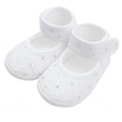 Kojenecké capáčky New Baby stříbrno-bílé 12-18 m, Bílá, 12-18 m