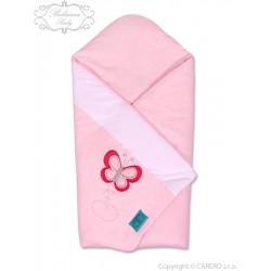 Vyšívaná zavinovačka Belisima Motýlek růžová, Růžová