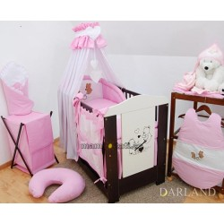 Luxusní mega set s výšivkou Š - Méďové v růžové