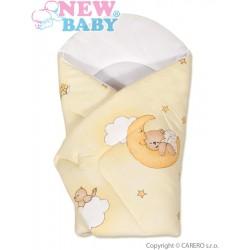 Dětská zavinovačka New Baby žlutá s medvídkem, Žlutá