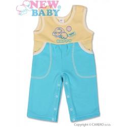 Dětské lacláčky New Baby Happy tyrkysové, Tyrkysová, 80 (9-12m)