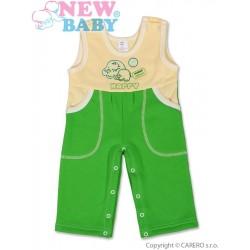 Dětské lacláčky New Baby Happy zelené, Zelená, 74 (6-9m)