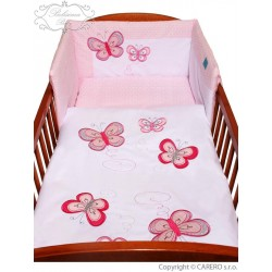 5-dílné ložní povlečení Belisima Motýlek 90/120 růžové