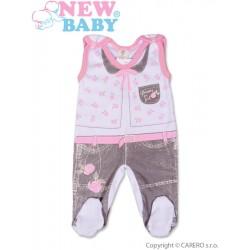 Kojenecké dupačky New Baby Jeans růžové, Růžová, 74 (6-9m)