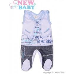 Kojenecké dupačky New Baby Jeans modré, Modrá, 68 (4-6m)
