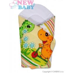 Dětská zavinovačka New Baby oranžová s dinem, Oranžová