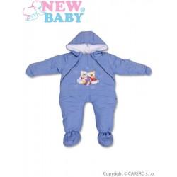 Zimní kombinéza New Baby modrá, Modrá, 68 (4-6m)