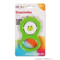 Dětské chrastítko Akuku zelené, Zelená