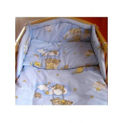 3-dílné ložní povlečení New Baby 90/120 cm modré s medvídkem