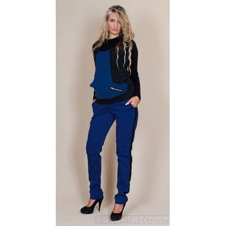 Těhotenské kalhoty Karolina - Modré