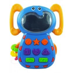 Dětská hračka se zvukem Baby Mix Sloník