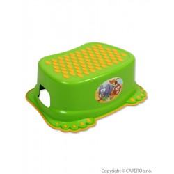 Dětské protiskluzové stupátko do koupelny zelené tlapky