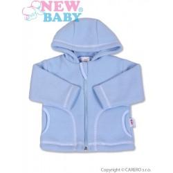 Kojenecký fleecový kabátek New Baby Kubík modrý, Modrá, 68 (4-6m)