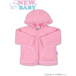Kojenecký fleecový kabátek New Baby Kubík růžový, Růžová, 80 (9-12m)