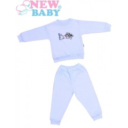 Dětské froté pyžamo New Baby modré, Modrá, 98 (2-3r)
