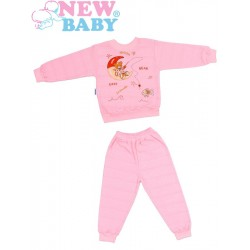 Dětské froté pyžamo New Baby růžové, Růžová, 98 (2-3r)