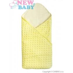Multifunkční dětská deka 2v1 New Baby žlutá, Žlutá