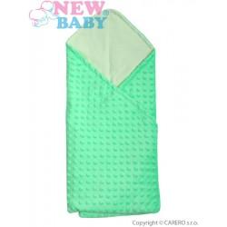 Multifunkční dětská deka 2v1 New Baby zelená, Zelená