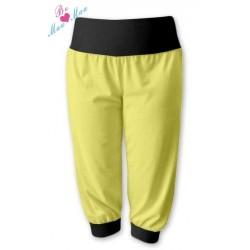 Sportovní 3/4 legíny CAPRI - žlutá/černá