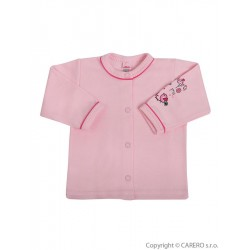 Kojenecký kabátek Bobas Fashion Benjamin růžový, Růžová, 56 (0-3m)