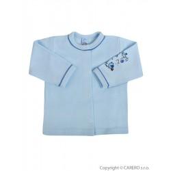 Kojenecký kabátek Bobas Fashion Benjamin modrý, Modrá, 62 (3-6m)