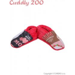 Bačkůrky Cuddly Zoo Máma S korálová, Červená