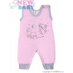 Kojenecké dupačky New Baby Kamarádi růžové