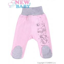 Kojenecké polodupačky New Baby Kamarádi růžové, Růžová, 80 (9-12m)