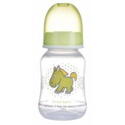 Canpol babies Lahvička s potiskem 125 ml ,Koník - zelená