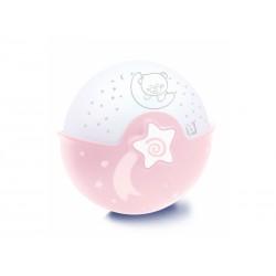 Infantino Noční lampička s projekcí - růžová