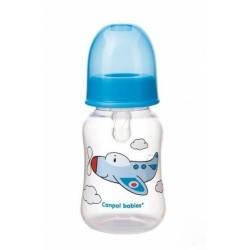 Canpol babies Lahvička s potiskem 125 ml , Letadlo - modrá