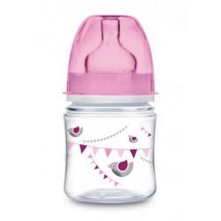 Canpol Babies Antikolik. lahvička se širokým hrdlem,  120 ml - růžová