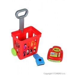 Dětský nákupní košík s příslušenstvím Bayo 24 ks