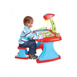 Dětská oboustranná tabule s projektorem a židličkou Bayo + příslušenství  93 ks